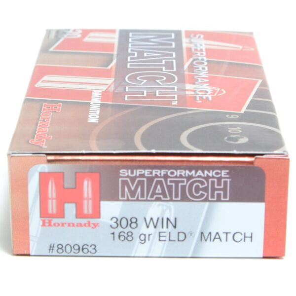 Hornady 308 Win 168 Grain ELD-M (Extremly Low Drag) Match Superformance (20)