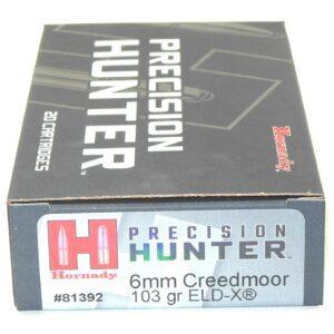 Hornady 6mm Creedmoor 103 Grain ELD-X (Extremly Low Drag) Hunting (20)