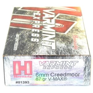 Hornady 6mm Creedmoor 87 Grain V-MAX (20)