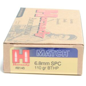 Hornady 6.8mm Rem SPC 110 Grain Hollow Point Boat Tail With Cannelure (20)