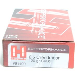 Hornady 6.5 Creedmoor 120 Grain GMX (MonoFlex) Superformance (20)