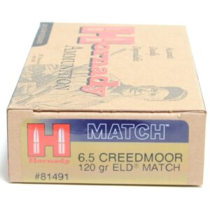 Hornady 6.5 Creedmoor 120 Grain ELD-M (Extremly Low Drag) (20)