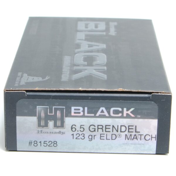 Hornady 6.5 Grendel 123 Grain ELD-M (Extremly Low Drag) Match Black (20)