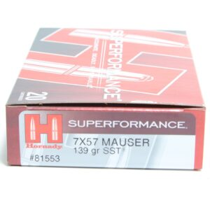 Ammo Fast - HOR81553 - Hornady 7X57 139 Grain SST (Super Shock Tip) Superformance (20)