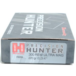 Hornady 300 Rem Ultra Magnum 220 Grain ELD-X (Extremly Low Drag) Hunting (20)