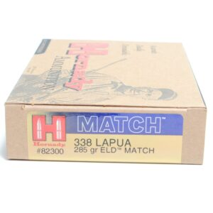 Hornady 338 Lapua 285 Grain ELD-M (Extremly Low Drag) Match (20)