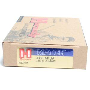 Hornady 338 Lapua 285 Grain A-MAX Match (20)
