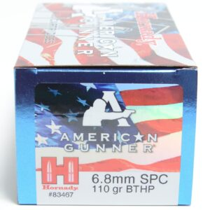 Hornady 6.8mm Soft Point 110 Grain Hollow Point Boat Tail With Cannelure American Gunner (50)