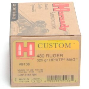 Hornady 480 Ruger 325 Grain XTP MAG (eXtreme Terminal Performance) (20)