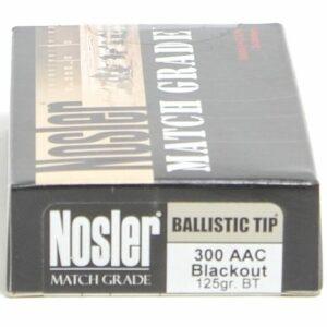 Nosler 300 AAC Blackout 125 Grain Ballistic Tip (20)