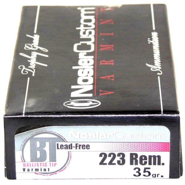 Nosler 223 Rem 35 Grain Boat Tail (Lead Free) (20)