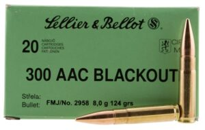 Sellier & Bellot 300 AAC Blackout 124 Gr FMJ (20)