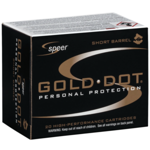 Speer 40 S&W 180 Gr Gold Dot Duty Ammunition GDHP Short Barrel (20)