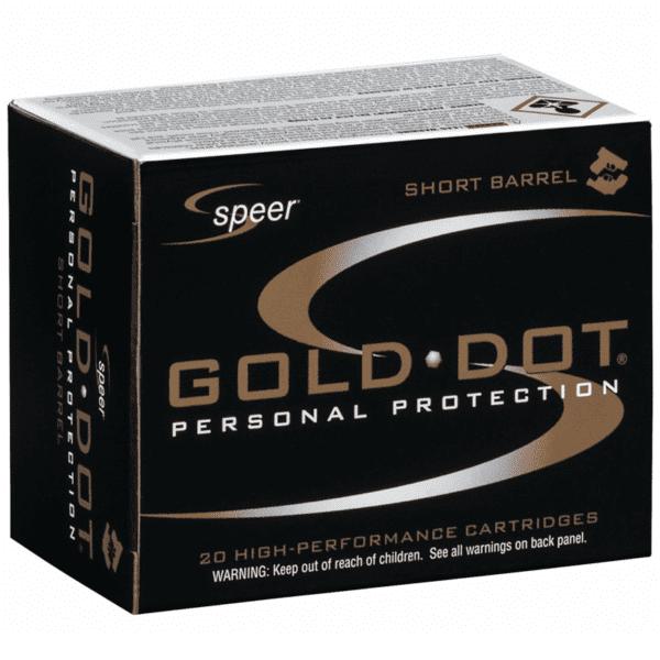 Speer 40 S&W 180 Gr Gold Dot Duty Ammunition GDHP Short Barrel (20)
