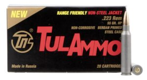 Tula Ammo 223 55 Grain HP BJB Steel Case (20)
