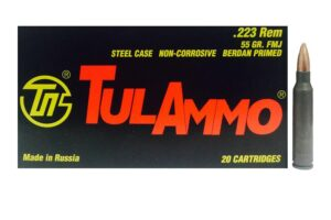 Tula Ammo 223 55 Grain FMJ Steel Case (20)