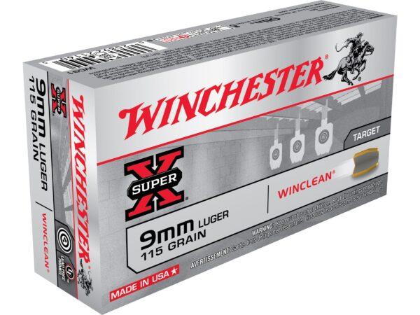 Winchester 9mm 115 Grain WinClean FMJ (50)