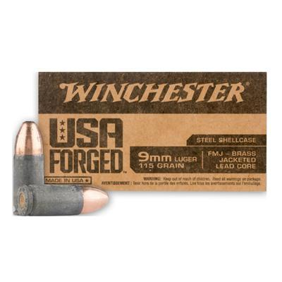 Winchester 9MM 115 Gr. FMJ USA FORGED (50)