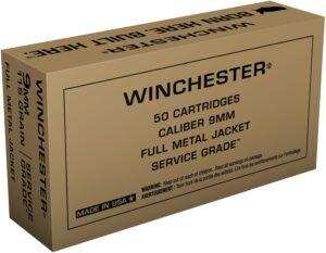 Winchester 9mm 115 Grain FMJ Service Grade (50)