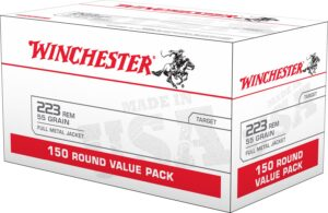 Winchester 223 Rem 55 Gr FMJ VALUE PACK (150)