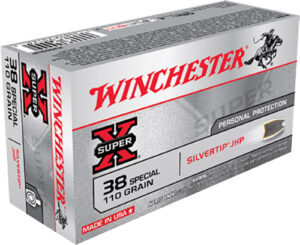 Winchester 38 Special 110 Gr Silver Tip JHP Super X (50)
