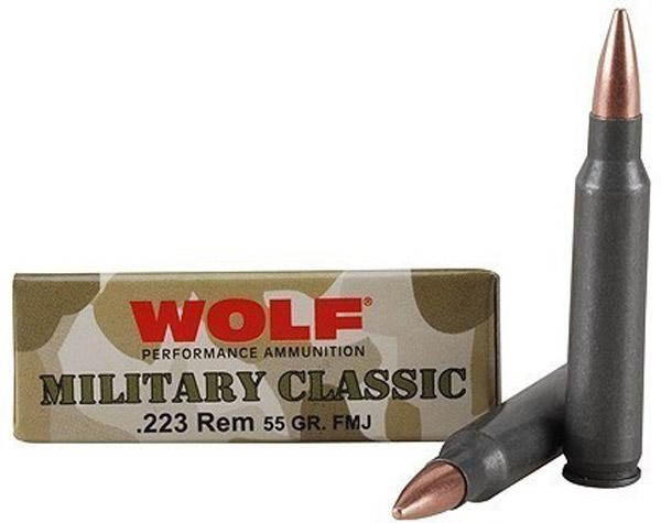 Wolf 223 Rem 55 Gr FMJ Military Classic (20)