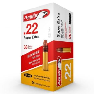Aguila 22 LR 38 Gr Super Extra CC HV Hollow Point (50)