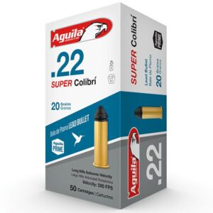 Aguila 22 LR 20 Gr Super Colibri Quiet POWDERLESS NOT FOR SEMI AUTO (50)