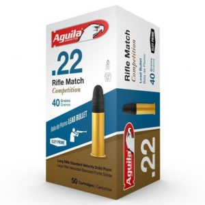 Aguila 22 LR 40 Gr Competition Rifle Match LRN SV (50)