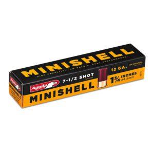 Aguila 12 Gauge MINISHELL 1 3/4 Inch #7.5 Shot (20)