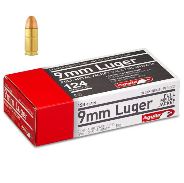 Aguila 9mm 124 Gr FMJ (50)