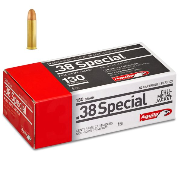 Aguila .38 Special 130 Gr FMJ (50)