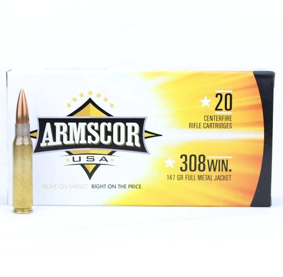 Armscor USA 308 Win 147 Gr FMJ (20)