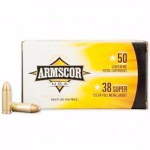 Armscor USA 38 Super 125 Gr FMJ (50)