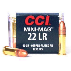 CCI 22 LR 40 Gr HV CC RN Mini Mag (100)