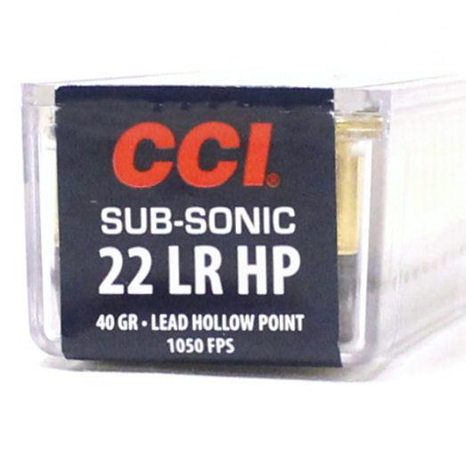 CCI 22 LR 40 Gr Lead HP SubSonic (100)