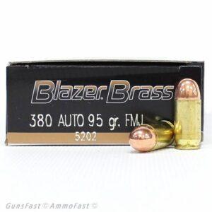 CCI Blazer Brass 380 ACP 95 Gr FMJ (50)