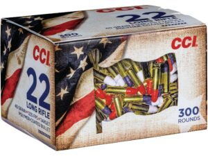 CCI 22 LR 40 Grain Lead Round Nose High Velocity Patriot Pack (300)