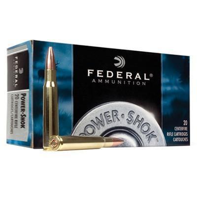 Federal 30-06 Springfield 220 Gr Power-Shok Speer Hot-Cor SP (20)