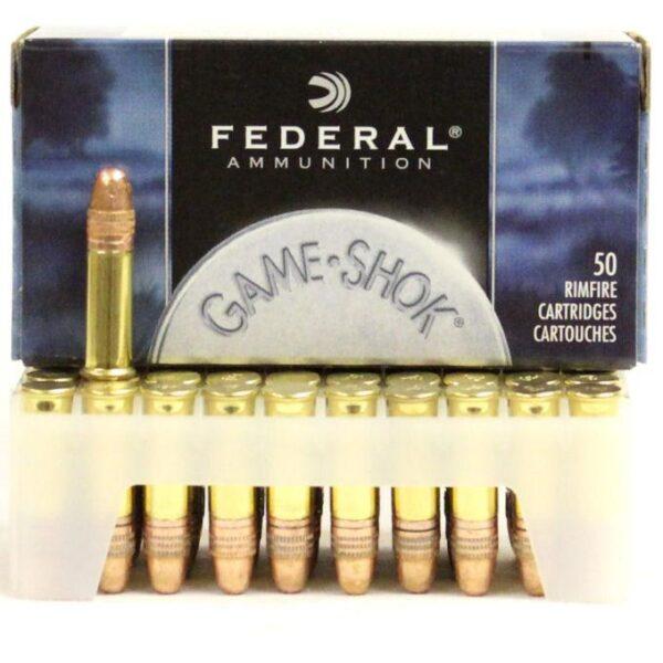 Federal 22 LR 40 Gr Game Shok HV CC RN (50)