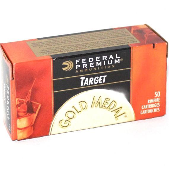 Federal 22 LR 40 Gr Gold Medal Target Lead RN (50)