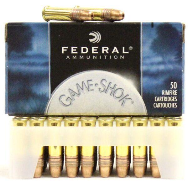 Federal 22 LR 38 Gr Game Shok Copper Coated HP (50)