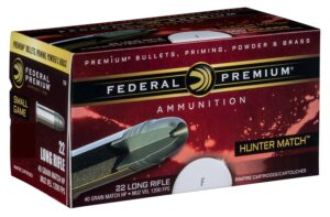 Federal 22 LR 40 Gr HV HP Hunter Match (50)