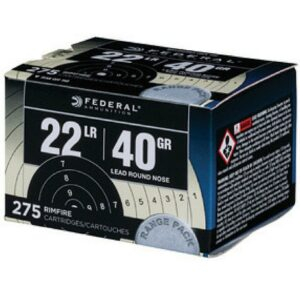 Federal 22 LR 40 GR Lead Round Nose Target Range Pack (275)