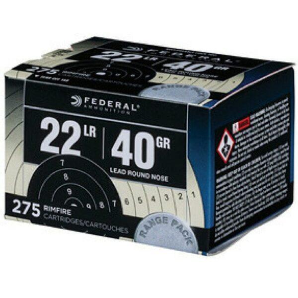 Federal 22 LR 40 GR Lead Round Nose Target Range Pack (275)