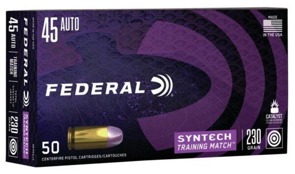 Federal 45 Auto 230 Gr TSJ American Eagle Training Match SYNTECH (50)