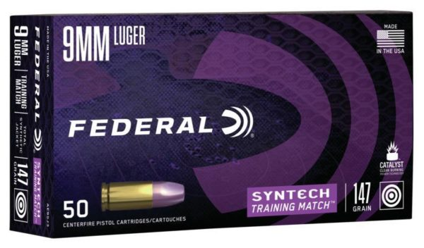 Federal 9MM 147 Gr TSJ American Eagle Training Match SYNTECH (50)
