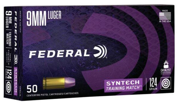 Federal 9MM 124 Gr TSJ American Eagle Training Match SYNTECH (50)