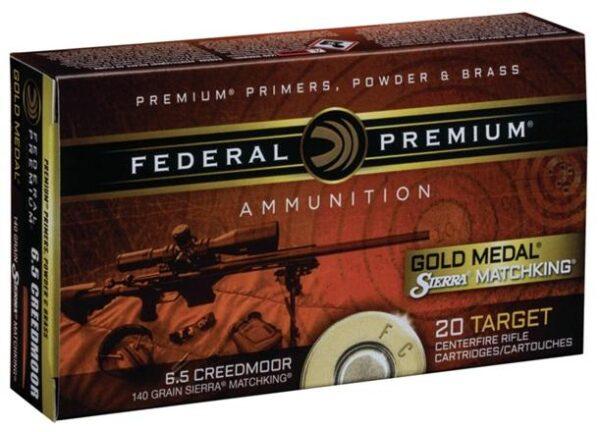Federal 6.5 Creedmoor 140 Gr Gold Medal Sierra MatchKing (20)