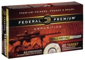 Federal 6.5 Creedmoor 130 Gr Gold Medal Berger Hybrid VLD (20)
